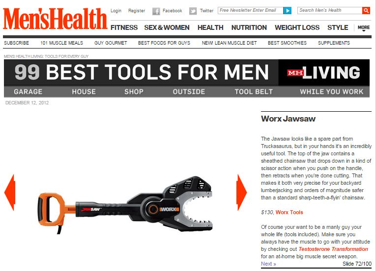 Men's Health 99 Best Tools for Men
