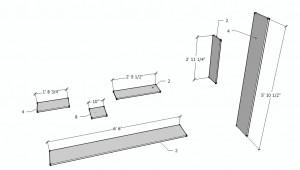 Closet Organizer Dimensional Drawings