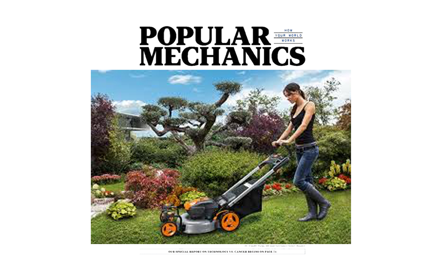 WORX Lawn mower in Popular Mechanics Magazine