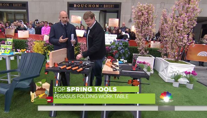 Pegasus Work Table on Today Show