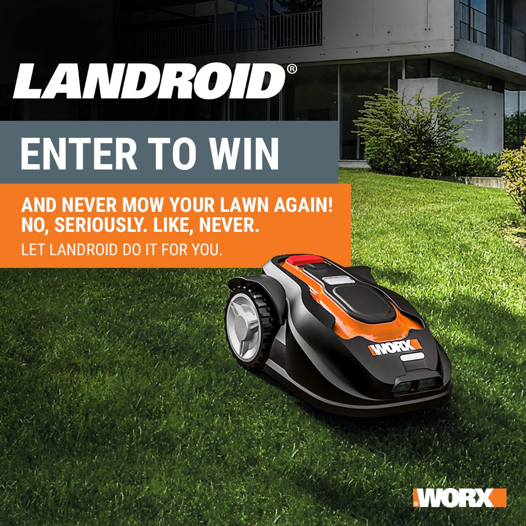 Worx Landroid Robotic Lawn Mower Sweepstakes