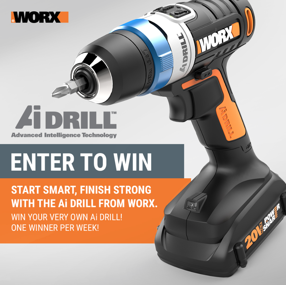 Worx Weekly Ai Drill Giveaway