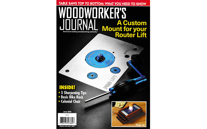 Woodworkers Journal-Cover-June-2018