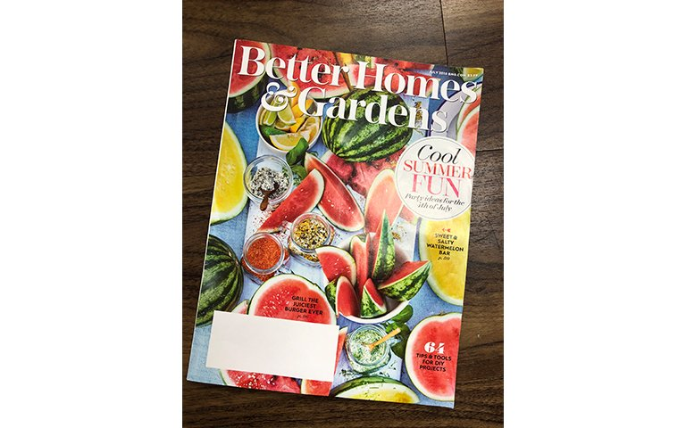 Better Homes and Gardens July 2018 Cover